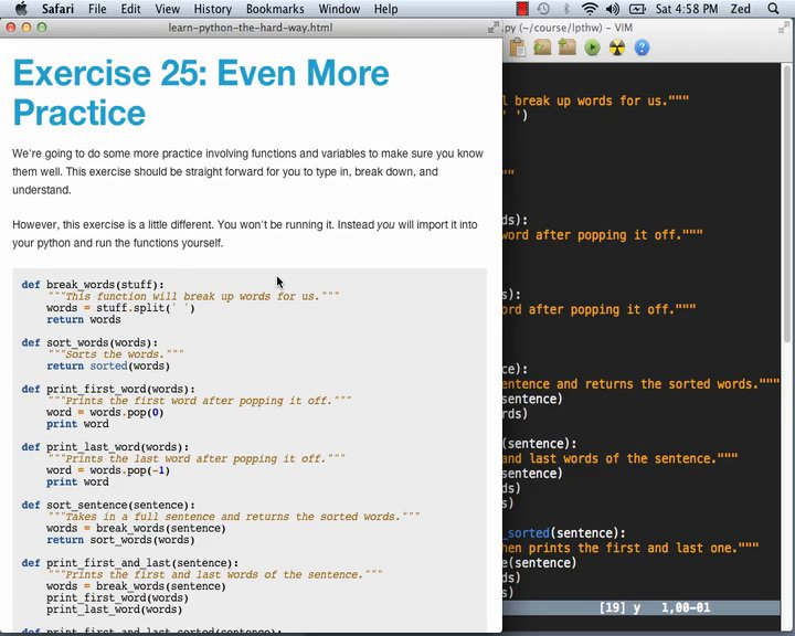 Learn Code The Hard Way - LPy2THW Ex25