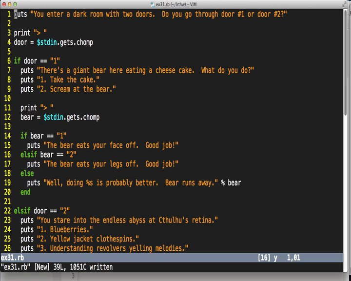Learn Code The Hard Way - LRTHW Ex31