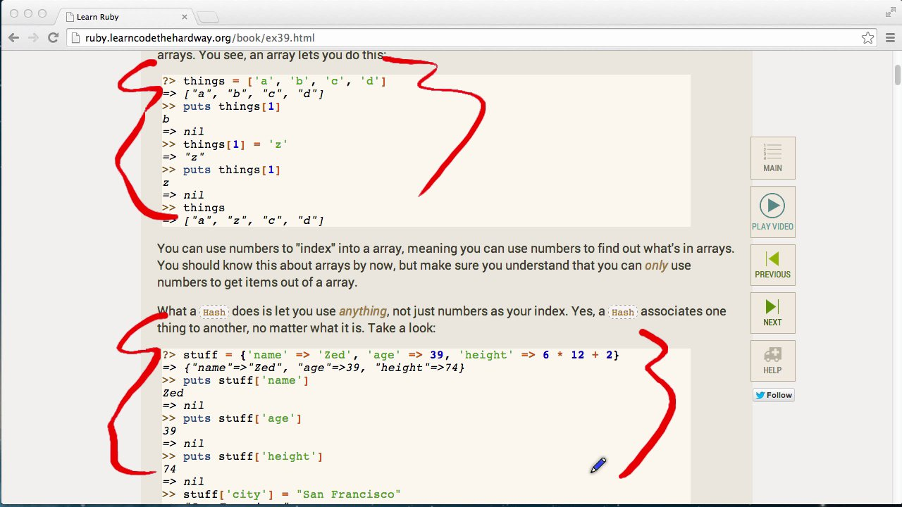 Learn Code The Hard Way - LRTHW Ex39